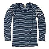 Cosilana Kinder Unterhemd Größe 116 in geringelt Marine-Natur - Verkauf von Wollbody