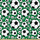 ABAKUHAUS Fußball Microfaser Stoff als Meterware,