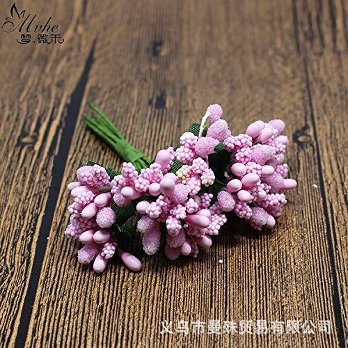 donfonhyx989u7 Die Neue kleine Beere Kranz Candy Box Zubehör Zhu Hua Schaumperlen Sen weibliche Gesicht mit Blume Ye Beere/Bag
