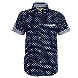 Sambu Boys' Denim Regular Fit Half Sleeve Shirt, Casual and Party Wear Shirts For Boys (Denim Blue, 4-5 Years)