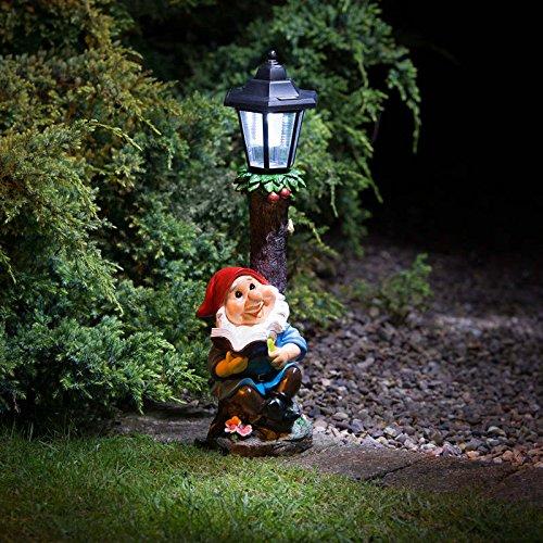 MDL Gartenzwerg mit solarbetriebener Laternenpfahl (3071401515)