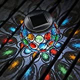Auraglow Mosaik Solarlicht Tischaufsteller mit LED Garten Alfresco Dinnerlampe