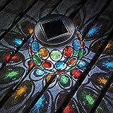 Auraglow Centro de Mesa Mosaico Luz Solar LED para Jardín al fresco, uso en Comedor - Lámpara