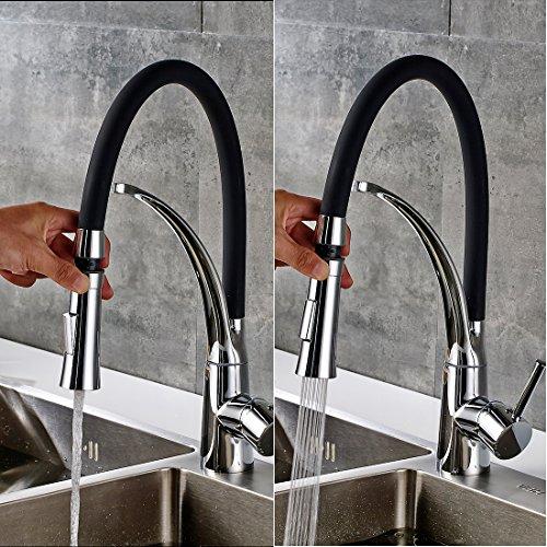 Gimili Wasserhahn Küche Küchenarmatur Waschbecken Mischbatterie Küche Einhandhebelmischer für Badezimmer - 2