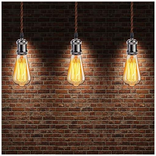 GreenSun LED Lighting 5m Cavo elettrico, 2x 0,75mm², Copertura di lino Stile Attorcigliato vintage Cavo, Di rame, Per fai-da-te o applicazioni industriali, caffè
