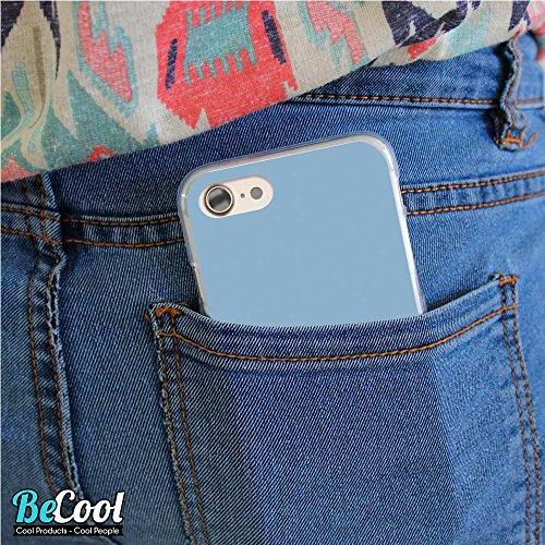 BeCool®- Coque Etui Housse en GEL Flex Silicone TPU Iphone 8, Carcasse TPU fabriquée avec la meilleure Silicone, protège et s'adapte a la perfection a ton Smartphone et avec notre design exclusif. Cha L1326