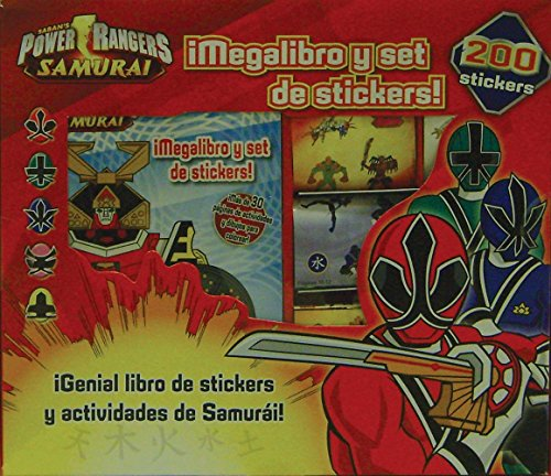 Power Rangers Samurai - Megalibro Y Set De Stickers