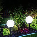 Dyda62pcs Énergie Solaire Ampoule LED, Rond en Forme de Boule de Jardin pelouse Ampoule Capteur contrôle Ampoule à économie d'énergie pour Jardin Cour pelouse, Voir Image, Size: 10cm*33cm