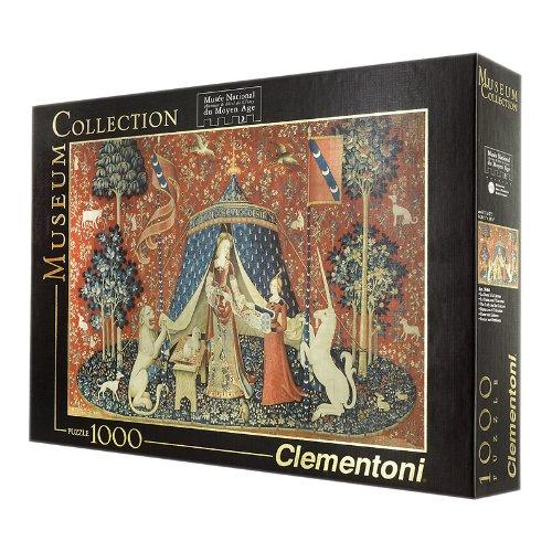 Preisvergleich Produktbild Puzzle 1000 Teile - Dame mit Einhorn - Museum Collection