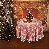FeiliandaJJ Tischdecke Weiß Spitze Tischtuch Tisch Cover für Hochzeit Party Outdoor Hotel Valentinstag Home Decor Pflegeleicht,Rund Rechteck (Weiß, Rund(178cm))