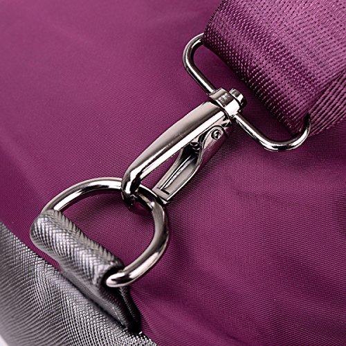 BUKUANG Oxford-Nylon Tragetasche Weibliche Schulter Diagonal Tragbare Mehrzweck Studenten Umhängetasche Hochschule Wind,Purple Purple
