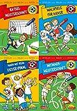 Pixi kreativ 4er-Set 28: Fußball-Rätsel: Spielen, Malen, Raten wie die Weltmeister! (4x1 Exemplar)