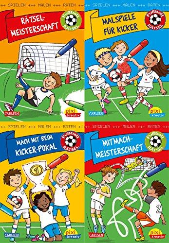 Fußball-Rätsel: Spielen, Malen, Raten wie die Weltmeister! (4x1 Exemplar) (Pixi kreativ 4er-Set, Band 28)