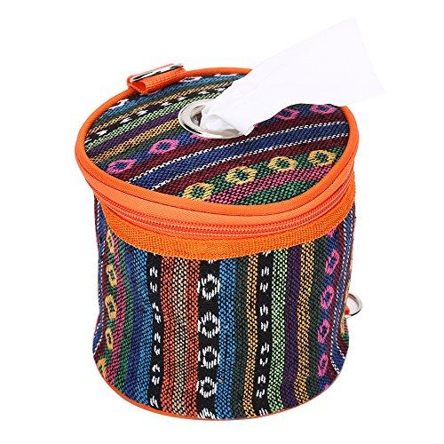 Dilwe Roll Case Papierhalter, Tissue Hängende Abdeckung Wipes Box Halter Aufbewahrungstasche mit Haken für Camping Zelt -