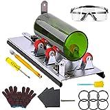AmazeFan Glassnijder voor flessen, roestvrij staal, 5 verstelbare wielen, glassnijder, bottle cutter kit voor doe-het-zelf kr