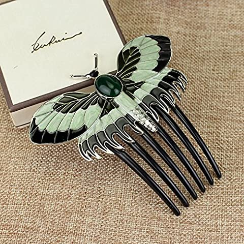 Aukmla Hair Comb Clip Titanic Ross Headpiece Wedding for Daily and Party