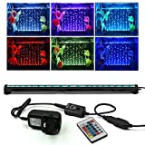 NEWNEN Fish Tank Light Waterproof Aquarium Lights Remote Control 5050 LED Color Changing,Air