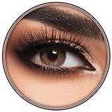 Lensme Honey Contact Lenses, Original Unisex Lensme Cosmetic Contact Lenses, Six Months Disposable, Honey Color