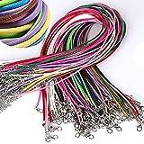 BonTime 10 Unids/Lote Cuerda de Cuero de Poliéster de Cera 1.5mm Cuerda de Cuerda para Collar Colgante Accesorios Joyería