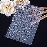 calistouk flores letras números patrón transparente sello de goma DIY álbum artesanía scrapbooking decoración?