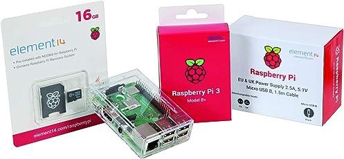 Raspberry Pi 3 Modell B + Wert Starter Kit