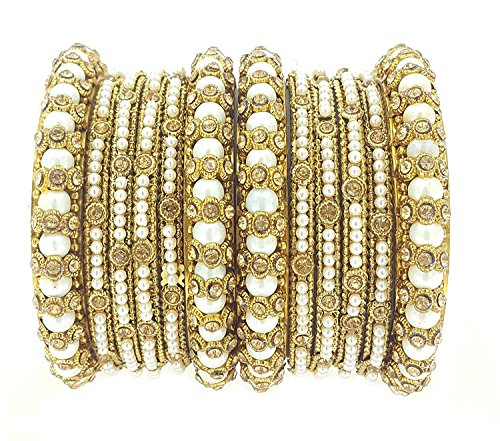 YouBella Traditional Bridal Jewellery Gold Plated Chura /Chuda Bangles Jewellery for Women and Girls (2.8)