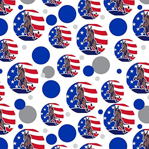 Angry Demokratischen Esel Politik America Flag Premium Geschenkpapier, (Usa Esel Hat)