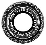 Jilong 41087 - Salvagente Ciambella High Speed, Nero