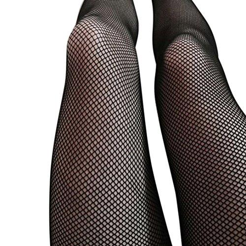 Ularma Damen Reizvolle Schwarz Mesh Fischnetz Strumpfhose Spitze High Waist Strümpfe Style 2017 (Style C) (Strumpfhosen Strumpfhosen Stocking Schwarz)