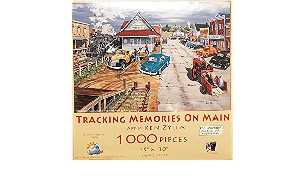 Tracking Memories on Main 1000 Piece Jigsaw Puzzle by SunsOut