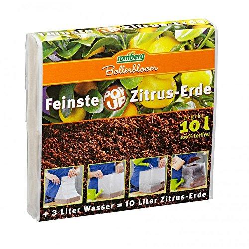 ROMBERG 76520K Zitruspflanzen Erden 10 L Pop Up Packung