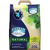 CATSAN Natural - Litière végétale agglomérante pour chat 20L