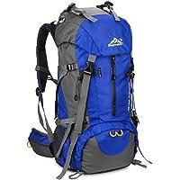 SKYSPER 50L Zaino da Treking, Zaino Impermeabile con Copertura della Pioggia per Viaggio Trekking Escursione