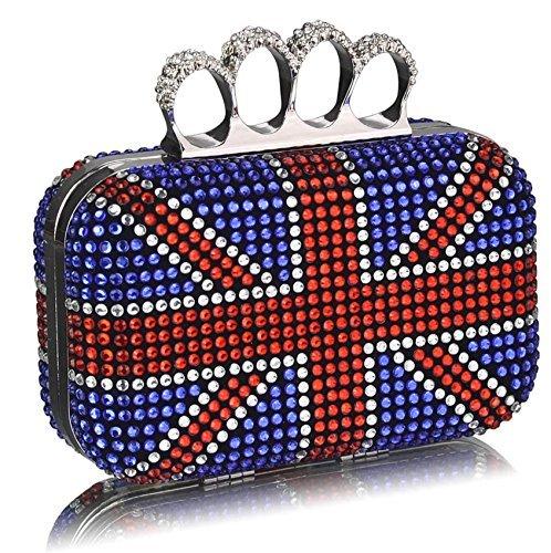 Handtaschen Taschen Abend TrendStar Damen Damen Kupplungs Abschlussball Hochzeit 1 Blau Partei Entwerfer zwRxSq1f