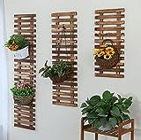 DGF Massivholz-Wand-Blumen-Zahnstange, Innen- und im Freien Balkon-Wand-hängender Blumen-Topf-Aufhänger (L29cm * H60cm, L29cm * H90cm, L29cm * H120cm) ( größe : L29cm*H60cm )