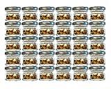 Lot de 30mini pots en verre-Capacité de 30ml-Couleurdu couvercle: argenté -Verre bombé To 43- Comme pots de confiture et de miel, verrines, pots pour fruits