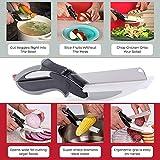AVMART Pack of 2 2-in-1 Food Chopper Multi Function Kitchen Vegetable Scissors Cutter