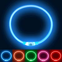 Collare Luminoso per Cani, Collare di Cane Impermeabile,Ricaricabile USB LED Collare Luminoso di Sicurezza per Animale…