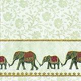 Natume weißen Elefanten, zum Mittagessen-Servietten 20 Stück 33 x 33 cm