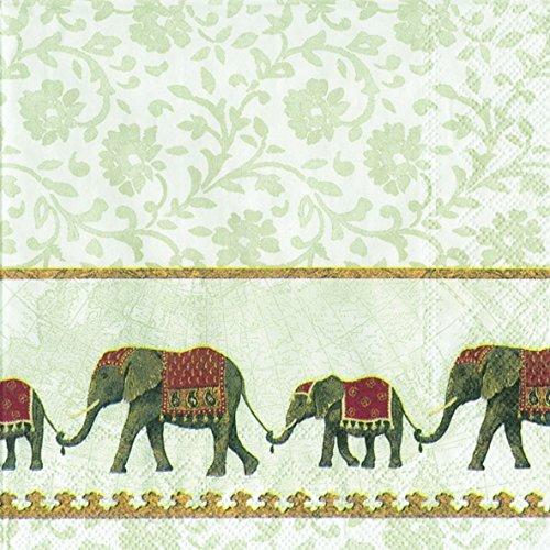 Natume blanco 20 servilleta de elefantes juego de protectores de 33 cm...