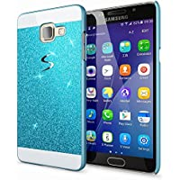 Samsung Galaxy A5 2016 Coque Protection de NICA, Ultra-Fine Glitter Housse Slim Hardcase Paillettes Cover, Etui Rigide Strass Bumper Mince pour Telephone Portable Samsung A5 2016 - Bleu
