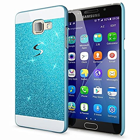 Samsung Galaxy A3 2017 Hard-Case by NICA, Sparkly Mobile Phone Back-Cover Ultra-Thin Skin Protector, Sparkle Glitter Shock-Proof Bumper Slim-Fit Protective Bling Backcase for A3-2017,
