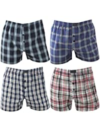 4 Pack Mens Boxer Shorts in fashionable shades multicolored diamonds, Farbe:mehrfarbig;Größe:2XL