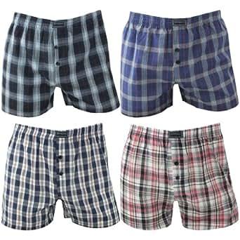 4er Pack Herren Boxershorts in modischen Karotönen mehrfarbig, Farbe:mehrfarbig;Größe:2XL