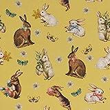 Baumwollstoff Stoff Dekostoff Digitaldruck Ostern Hasen