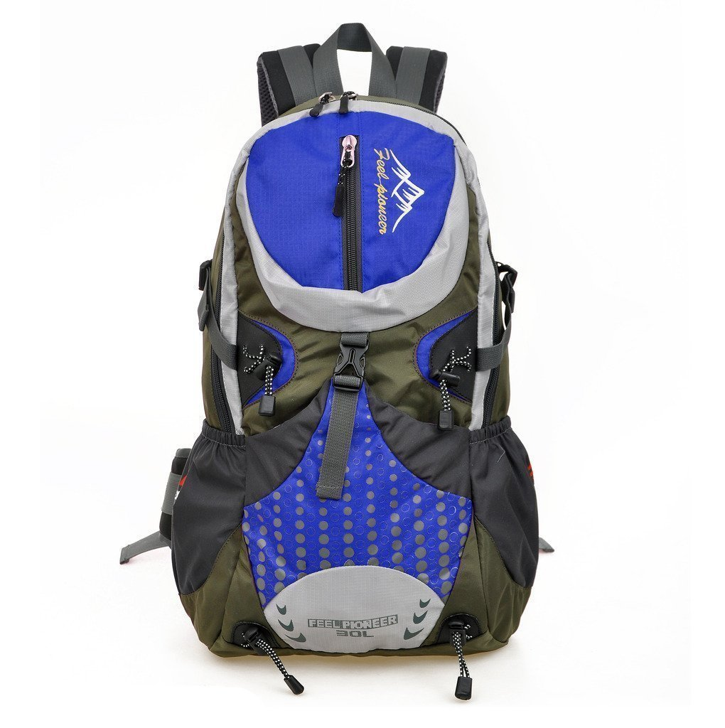 618e%2BHFvfAL - SKYSPER 30L Mochila Multifuncional de Senderismo Trekking Mochila Nylon Impermeable Morral Que acampa Mochila Viaje al Aire Libre