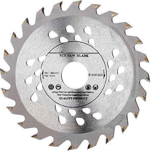 Hochwertiges Sägeblatt für Winkelschleifer, 125mm, für Holz-Trennscheiben, rund, 125mm x 22mm x 24Zähne (Zähne 22%)