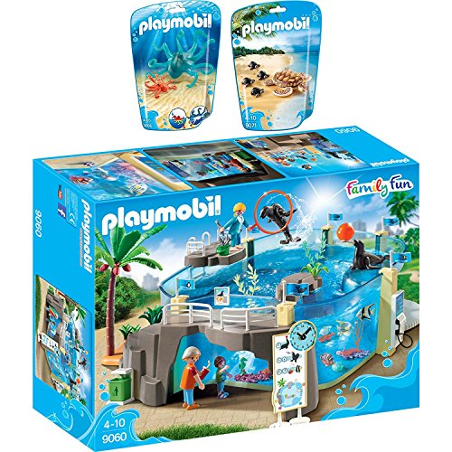 PLAYMOBIL® Family Fun 3er Set 9060 9066 9071 Meeresaquarium + Krake + Wasserschildkröte