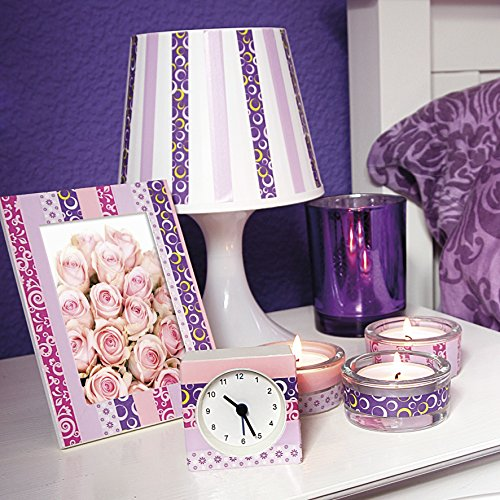 Duck Tape Washi 4-er Set Purple Art, mehrfarbig, 104-88