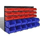 30 Piezas Cajas Almacenaje Organizador de Herramientas para Pared, Azul y rojoBricolaje Accesorios de Bricolaje Organización